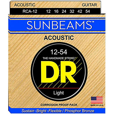 DR Strings Sunbeam Phosphor Bronze Light Acoustic Guitar Strings