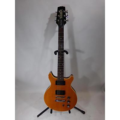 Hamer Sunburst Flat Top Solid Body Electric Guitar
