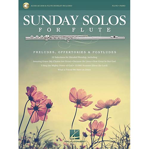 Hal Leonard Sunday Solos for Flute Instrumental Folio Series Softcover Audio Online