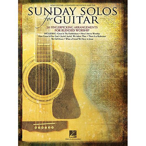 Hal Leonard Sunday Solos for Guitar (20 Fingerpicking Arrangements for Blended Worship) Guitar Solo Series Softcover