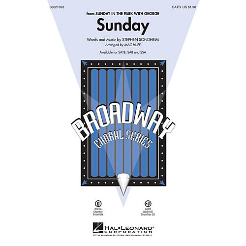 Hal Leonard Sunday (from Sunday in the Park with George) ShowTrax CD Arranged by Mac Huff
