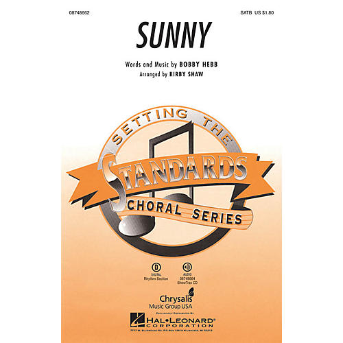 Hal Leonard Sunny SAB Arranged by Kirby Shaw
