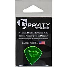 GRAVITY PICKS Sunrise Big Mini Polished Fluorescent Green Guitar Picks
