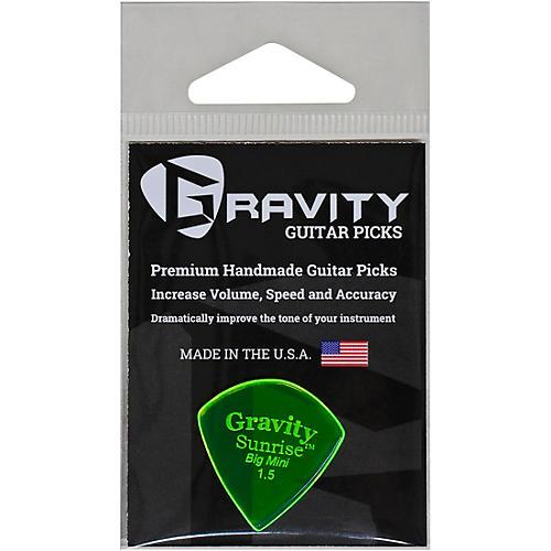 GRAVITY PICKS Sunrise Big Mini Polished Fluorescent Green Guitar Picks 1.5 mm