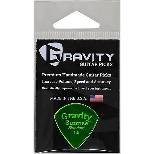 GRAVITY PICKS Sunrise Standard Polished Fluorescent Green Guitar Picks