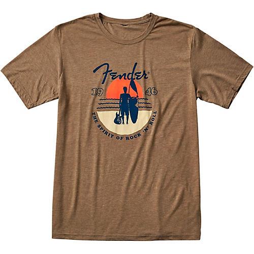 Fender Sunset Spirit T-Shirt Small Olive
