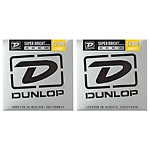 Dunlop Super Bright Nickel Light 4-String Bass Guitar Strings (9-42) 2-Pack