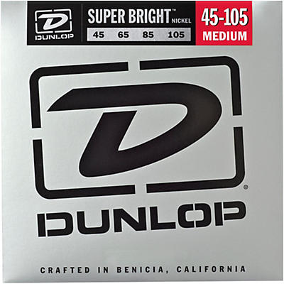 Dunlop Super Bright Nickel Medium 4-String Bass Guitar Strings