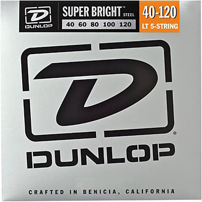 Dunlop Super Bright Steel Light 5-String Bass Guitar Strings