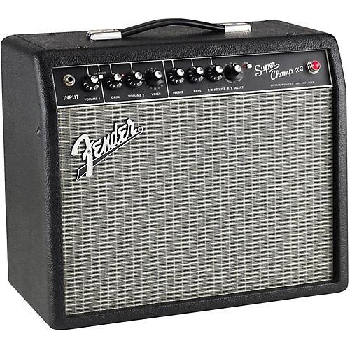 fender super champ x2 15w 1x10 tube guitar combo amp black musician 39 s friend. Black Bedroom Furniture Sets. Home Design Ideas
