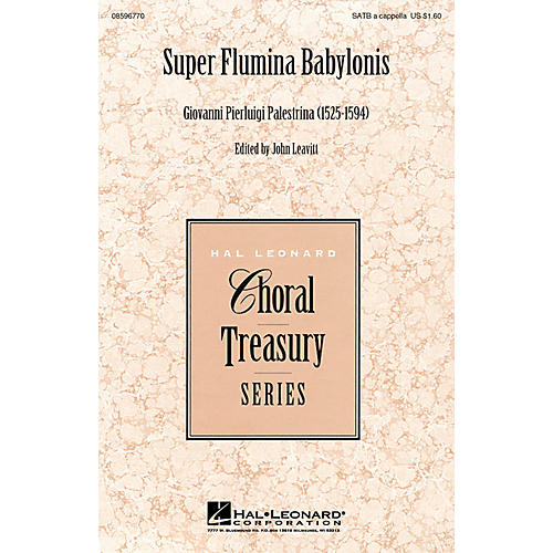 Hal Leonard Super Flumina Babylonis SATB a cappella arranged by John Leavitt