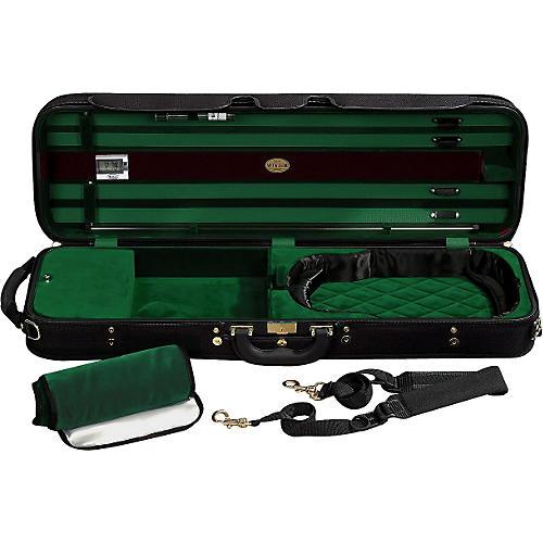 J. Winter Super Light Series Violin Case Black with Dark Green Interior