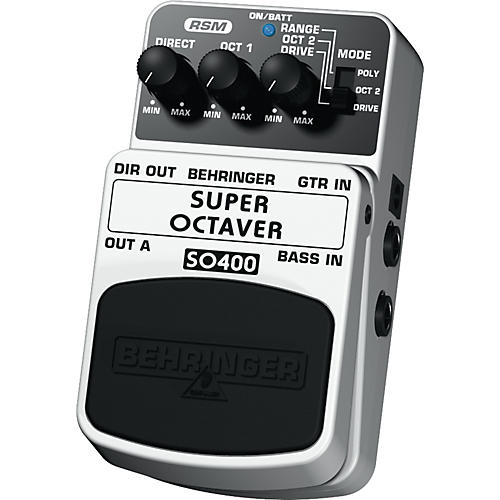 Behringer Super Octaver SO400 Guitar/Bass Effects Pedal