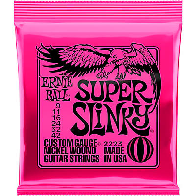 Ernie Ball Super Slinky 2223 (9-42) Nickel Wound Electric Guitar Strings