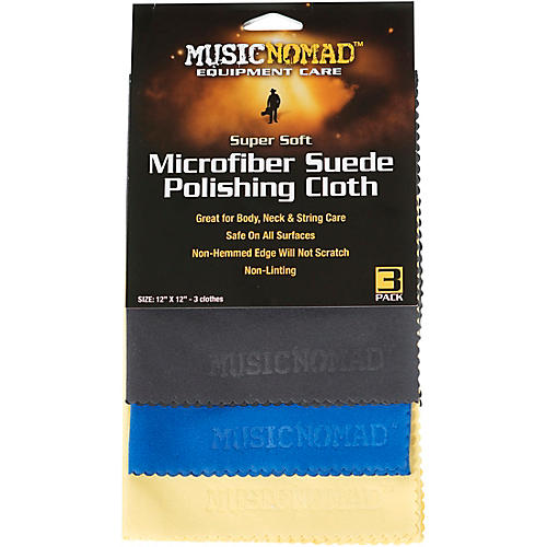 MusicNomad Super Soft Microfiber Suede Polishing Cloth - 3 Pack