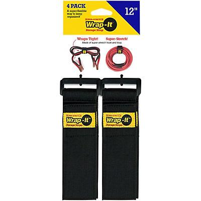 """Wrap-It Storage Straps Super Stretch 12""""-4 Pk"""