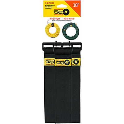 """Wrap-It Storage Straps Super Stretch 18""""- 3 Pk"""