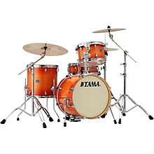 Superstar Classic 4-Piece Shell Pack with 18 in. Bass Drum Tangerine Lacquer Burst