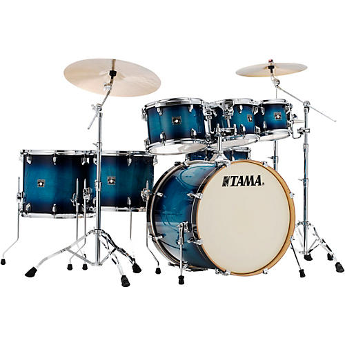 TAMA Superstar Classic 7-Piece Shell Pack Blue Lacquer Burst