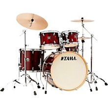 Superstar Classic Exotix 5-Piece Shell Pack with 22 in. Bass Drum Gloss Garnet Lacebark Pine