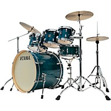 Superstar Classic Exotix 7-Piece Shell Pack with 22 in. Bass Drum Gloss Sapphire Lacebark Pine