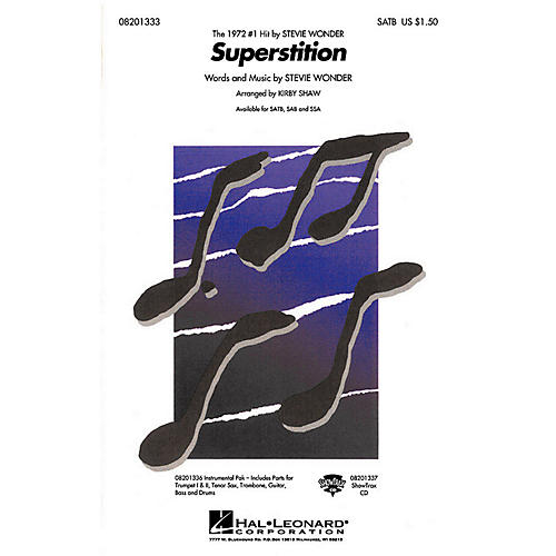 Hal Leonard Superstition SATB by Stevie Wonder arranged by Kirby Shaw