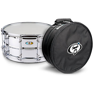 Ludwig Supralite Snare Drum with Protection Racket Case