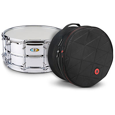 Ludwig Supralite Snare Drum with Road Runner Bag