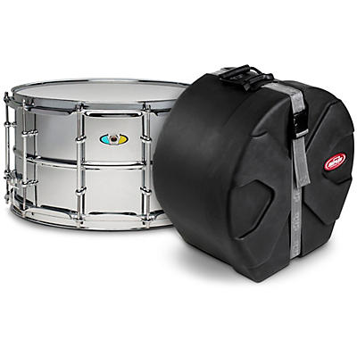 Ludwig Supralite Steel Snare Drum with SKB Case
