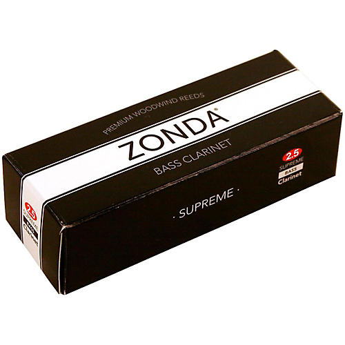 Zonda Supreme Bass Clarinet Reed Strength 2.5 Box of 5
