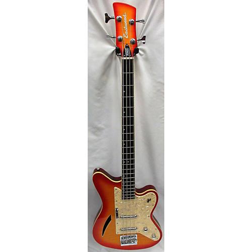 Eastwood Surfcaster Electric Bass Guitar Cherry Burst