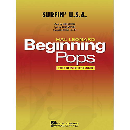 Hal Leonard Surfin' U.S.A. Concert Band Level 1 by Beach Boys Arranged by Michael Sweeney