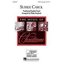 Hal Leonard Sussex Carol SATB a cappella arranged by Philip Stopford