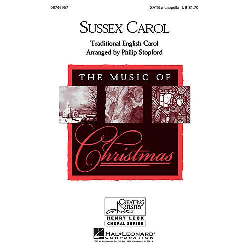 Hal Leonard Sussex Carol SATB a cappella arranged by Philip Stopford