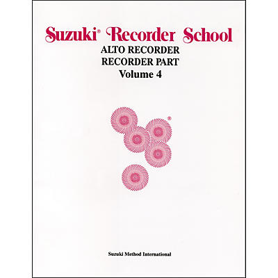 Alfred Suzuki Recorder School (Alto Recorder) Recorder Part Volume 4