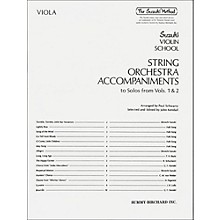 Alfred Suzuki String Orchestra Accompaniments to Solos from Volumes 1 & 2 for Viola Book