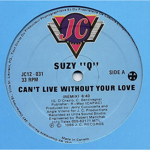 Alliance Suzy-Q - Can't Live Without Your Love