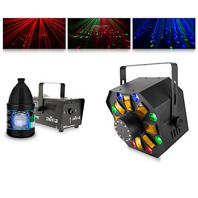 CHAUVET DJ Swarm Wash FX with Hurricane 700 Fog Machine and Juice