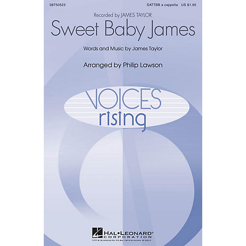 Hal Leonard Sweet Baby James SATTBB A Cappella by James Taylor arranged by Philip Lawson