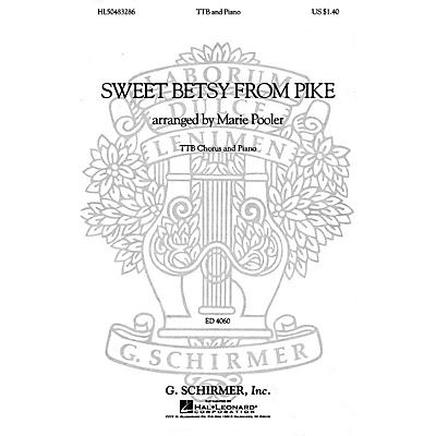 G. Schirmer Sweet Betsy from Pike (TTB and Piano) TTB composed by American Folksong