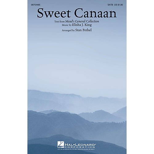 Hal Leonard Sweet Canaan SATB arranged by Stan Pethel