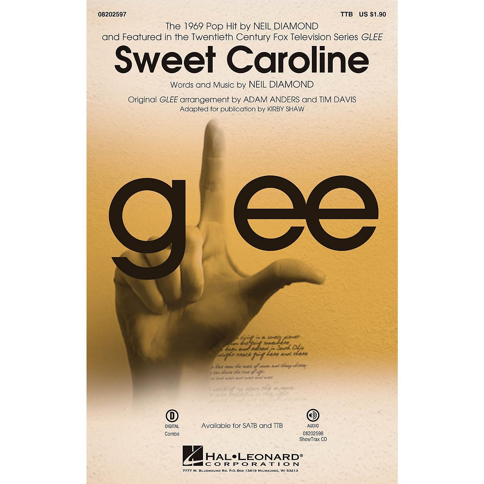 Hal Leonard Sweet Caroline (from Glee) ShowTrax CD by Neil Diamond Arranged by Adam Anders