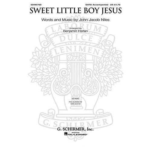 G. Schirmer Sweet Little Boy Jesus SA Arranged by Benjamin Harlan