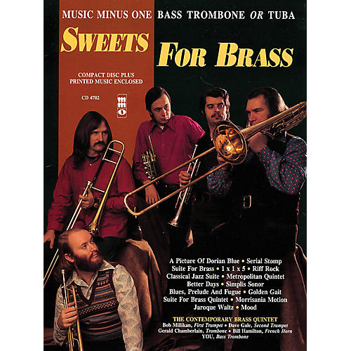 Music Minus One Sweets for Brass (Music Minus One Bass Trombone or Tuba) Music Minus One Series Softcover with CD