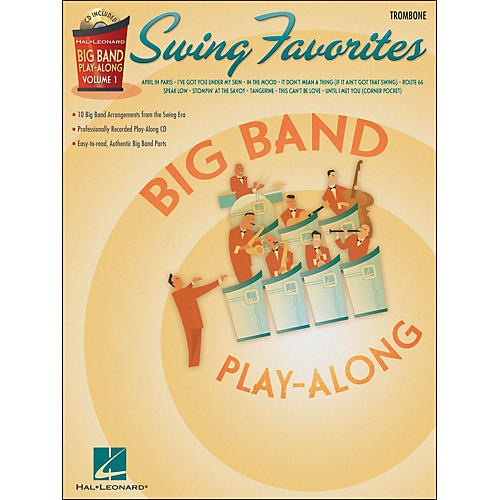 Hal Leonard Swing Favorites Big Band Play-Along Vol. 1 Trombone Book/CD