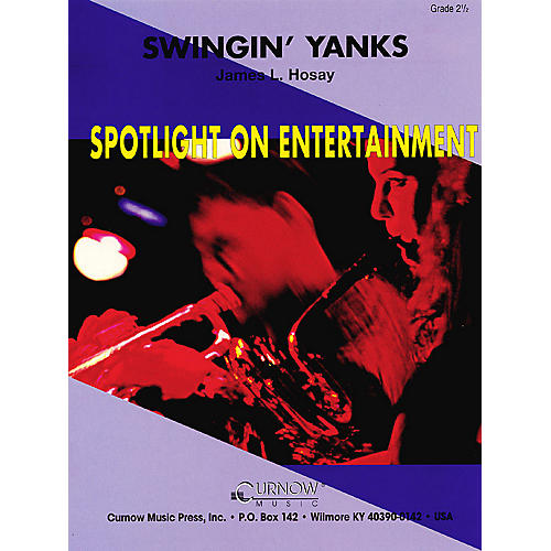 Hal Leonard Swingin' Yanks (Grade 2.5 - Score Only) Concert Band Level 2.5 Composed by James L. Hosay
