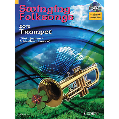Hal Leonard Swinging Folksongs Play-along For Trumpet Bk/cd With Piano Parts To Print Brass Solo Series