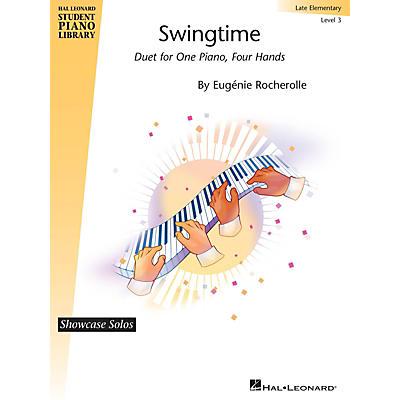 Hal Leonard Swingtime - Hal Leonard Student Piano Library Showcase Duet Late Elementary Level 3 by Eugenie Rocherolle