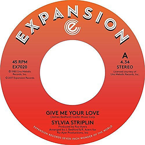 Alliance Sylvia Striplin - Give Me Your Love / You Can't Turn Me Away