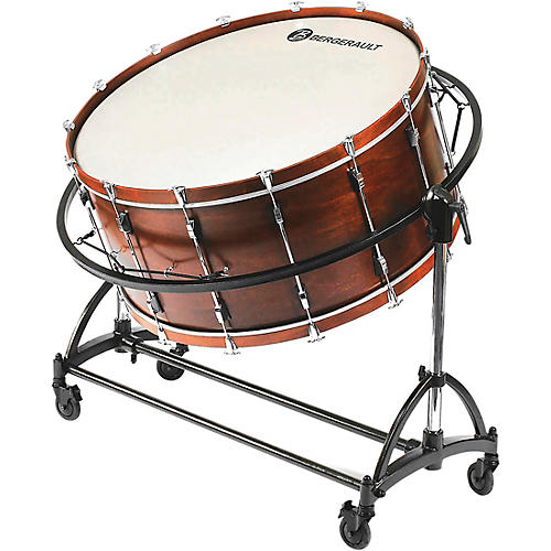 """Bergerault Symphonic Series Bass Drum, 36x22"""" With Suspension Stand 36 x 22 in."""